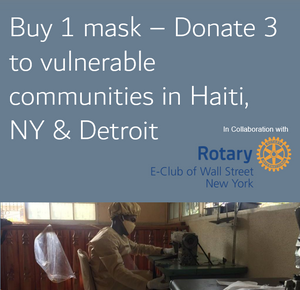 Rotary Mask - Made in Haiti (UNLISTED)