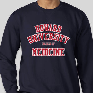 Crew Neck Sweatshirt - HOWARD UNIVERSITY COLLEGE OF MEDICINE