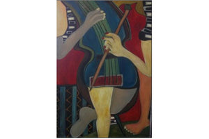 Shall We Dance #5 by Colette Bresilla (painting)