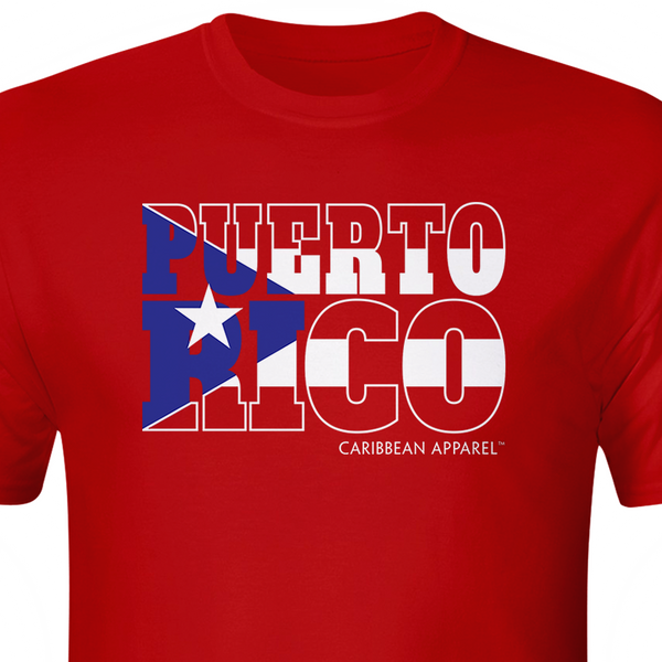 Puerto Rico graphic flag tshirt