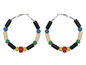 St. Kitts & Nevis Hoop Earrings