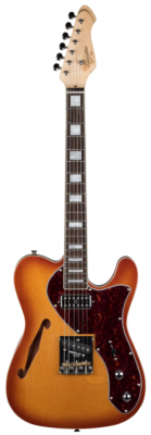 Revelation TSS electric guitar honey burst short scale