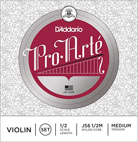 D'addario Pro Arte Violin String Set, 1/2 Scale Lenght, Medium