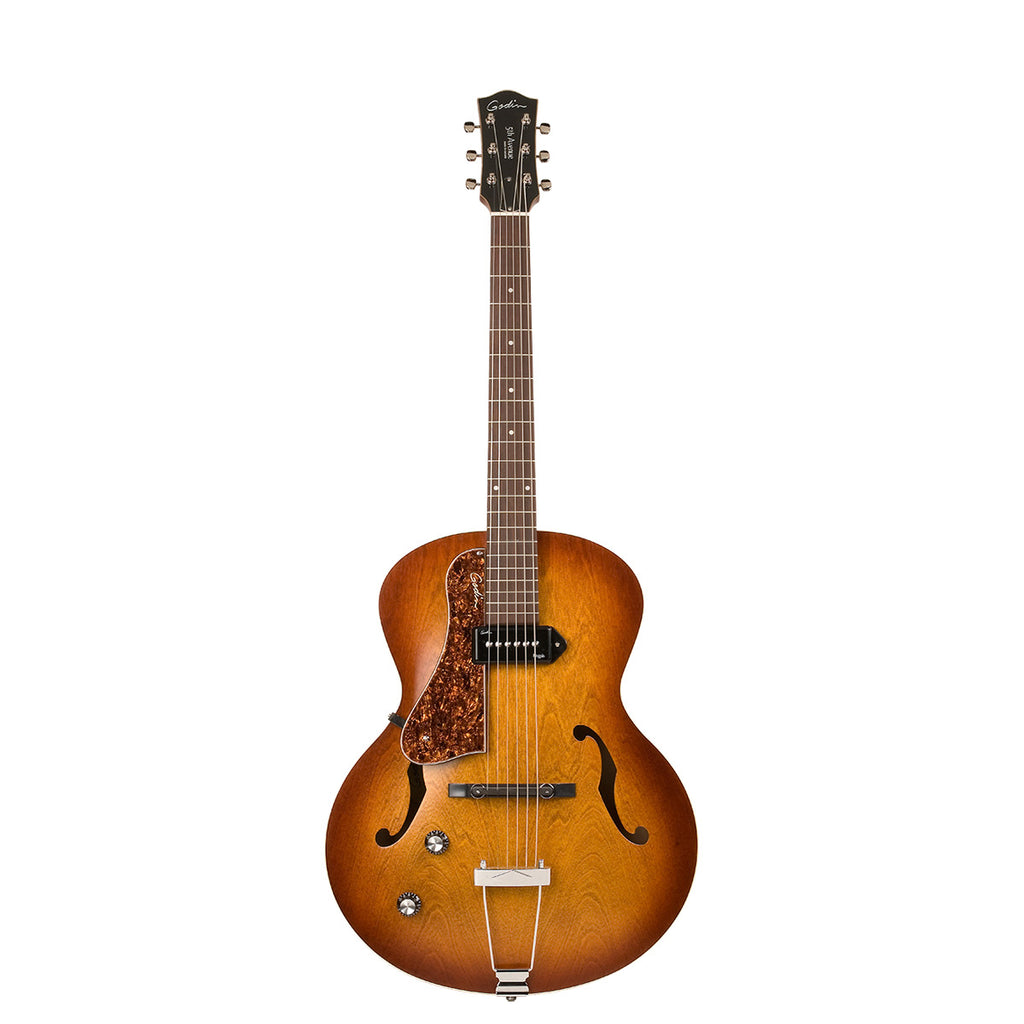 Godin 5th Avenue Kingpin P90 Cognac Burst Left Handed