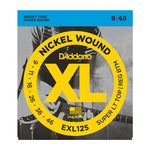 d`Addario EXL125  Nickel Wound Super Light Top / Regular Bottom 9 through 46 Bright Round Wound