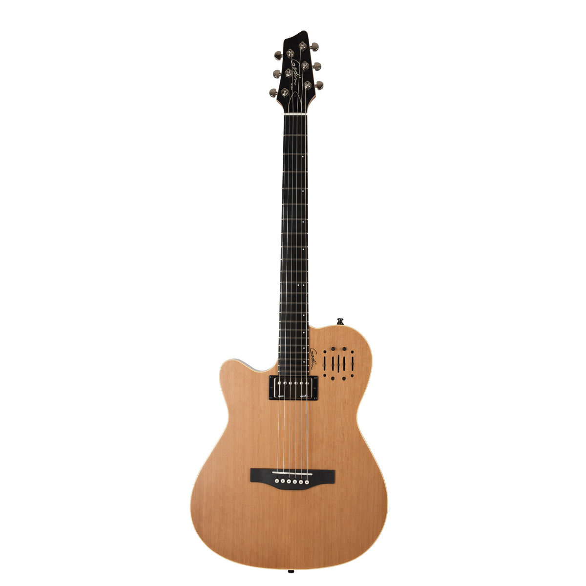 Godin A6 Ultra Natural SG Left Handed natural Semi Hollow Acoustic Electric Guitar