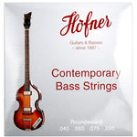 "Hofner Contemporary Roundwound Bass Set 30"" Scale"