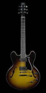 the Heritage Standard H-535  Semi Hollow Electric Guitar in Original Sunburst