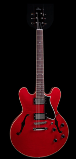the Heritage Standard H-535  Semi Hollow Electric Guitar in Trans Cherry
