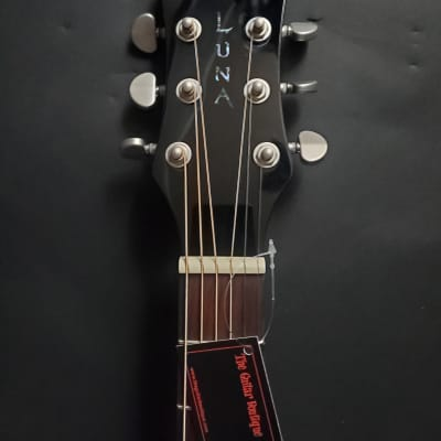 Luna FAU DRA BLK Electric Acoustic Guitar