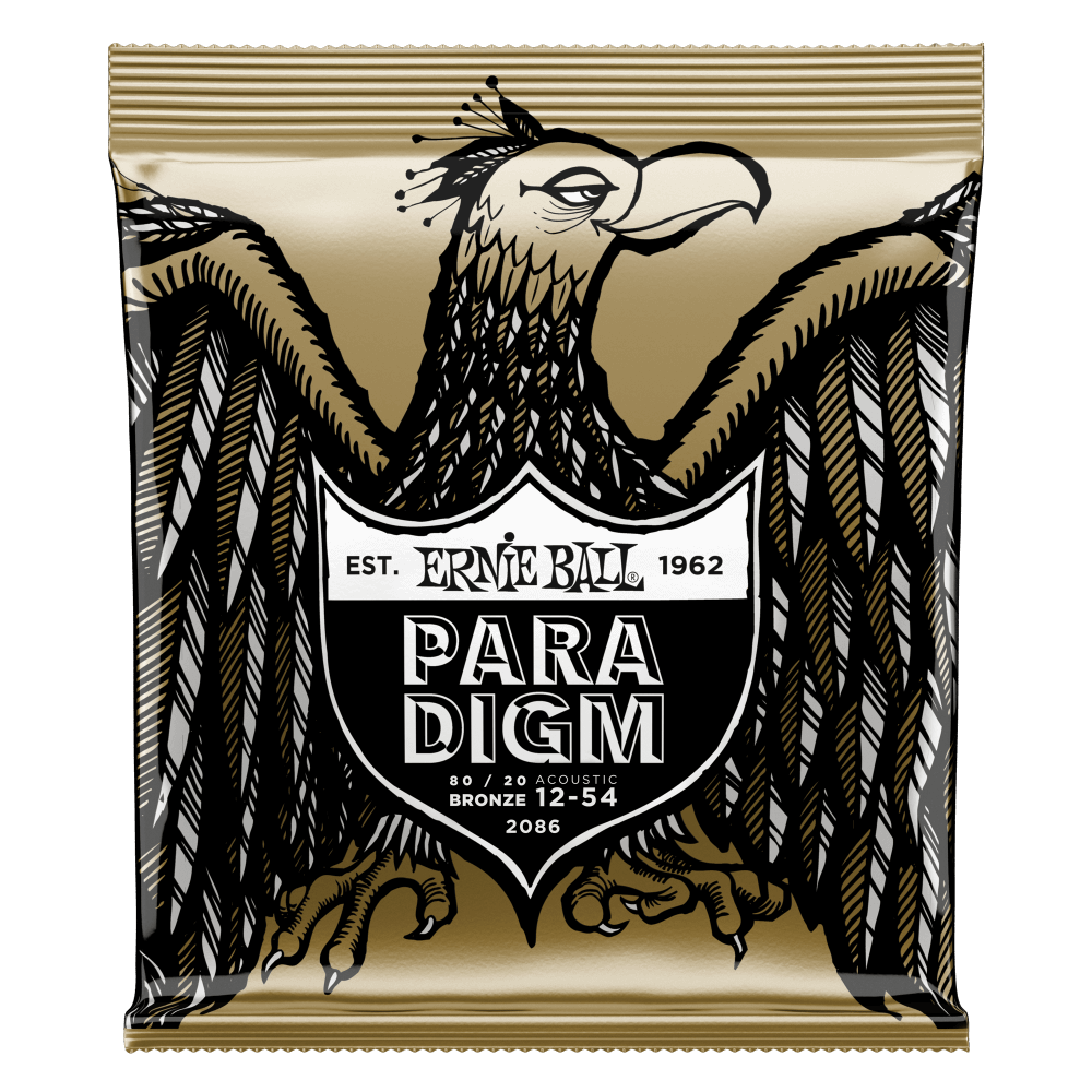 Ernie Ball PARADIGM MEDIUM LIGHT 80/20 BRONZE ACOUSTIC GUITAR STRINGS - 12-54 GAUGE