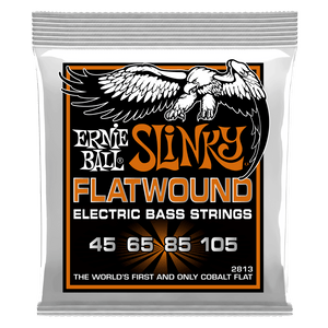 Ernie Ball 2813 HYBRID SLINKY FLATWOUND ELECTRIC BASS STRINGS - 45-105 GAUGE