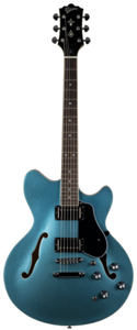 Revelation RT-45 Blue Electric Semi Hollow Guitar