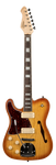 Revelation RFT DLX  L/H Honey Burst Left Handed Thinline Electric Guitar