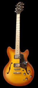 Revelation RT-45 Tobacco Burst Electric Semi Hollow Guitar