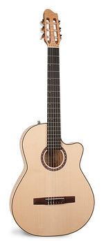LaPatrie Arena Flame Maple CW Crescent 2 thinline electric acoustic classical guitar