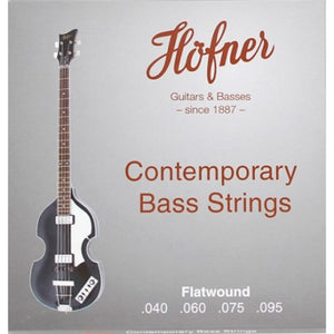 Hofner Contemporary FLATWOUND 40-95 Short Scale Bass Strings for Violin or Club Bass HCT1133B