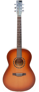 Norman Protege B18 Folk with Solid Cedar Top and Canadian Red Wild Cherry Back and Sides, with Fishman Pickup, Tobacco Burst Finish