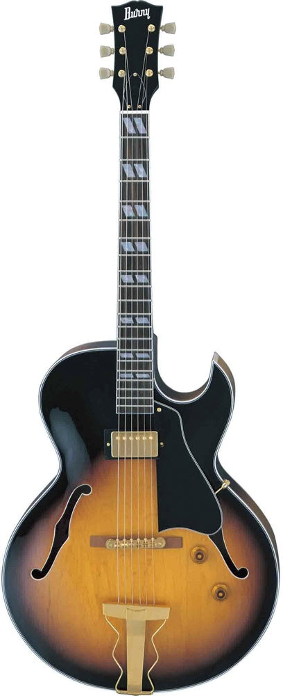 Burny RFA 75 Shortscale Jazz Guitar Brown Sunburst