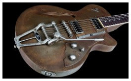 Duesenberg Starplayer TV Rusty  Steel electric guitar