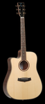 Tanglewood Rosewood Reserve Dreadnought Solid Spruce Top Acoustic with Cutaway and B-Band T35 Pickup, Natural Gloss Finish, Left Handed
