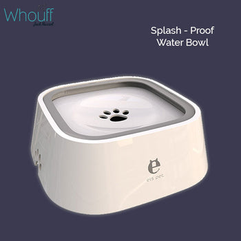 1.5L Splashproof Dog Water Bowl