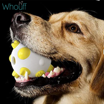 Spherical molar bite resistant dog toy