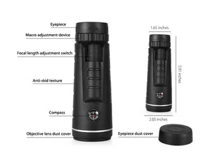 Hunting Scope With Compass Phone Clip