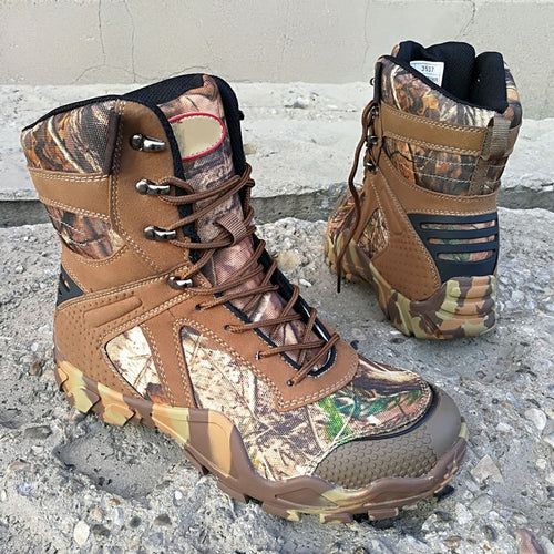 High Tube Camouflage Combat Boot