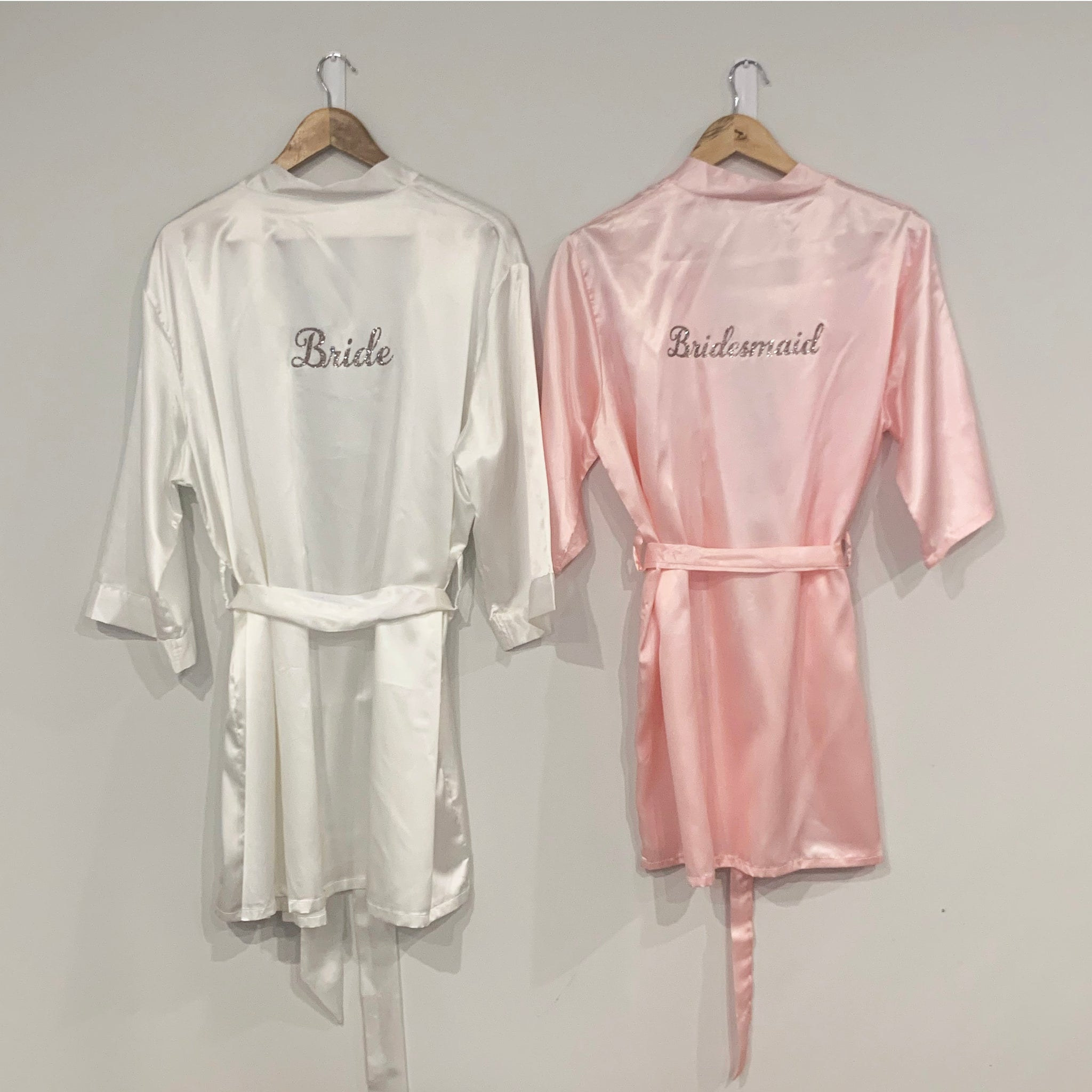 Personalised Bride And Bridesmaid Robes Nz The Foilsmith