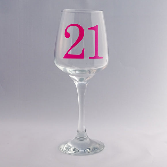 Birthday Wine Glass-Glassware-The FoilSmith