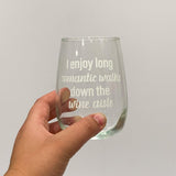 Customised Stemless Wine Glass