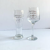Personalised Anniversary or Wedding Glass Set