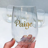 Customised Stemless Wine Glass-Glassware-The FoilSmith
