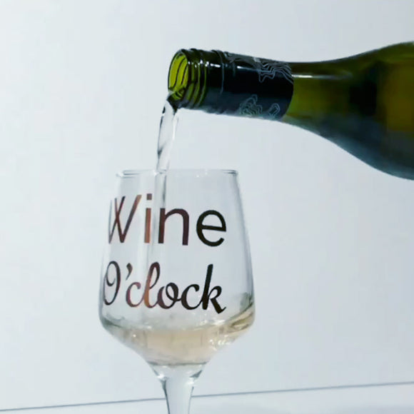 Wine O'Clock Glass-Glassware-The FoilSmith