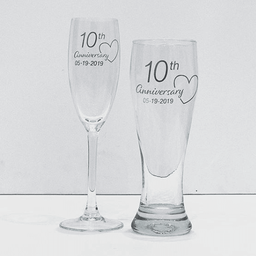 Anniversary Glass Set-Glassware-The FoilSmith