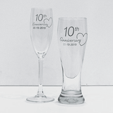 Anniversary Glassware set by the FoilSmith