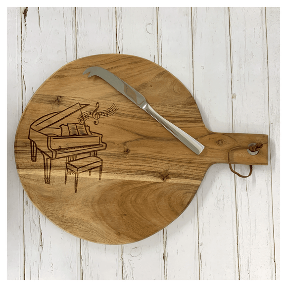 Personalised Acacia Round Cheeseboard