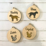 Personalised Pet Bauble - Two Layers