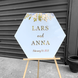 Hexagon Shaped Wedding Signage