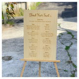 Engraved Wedding Welcome Signage and Seating Charts