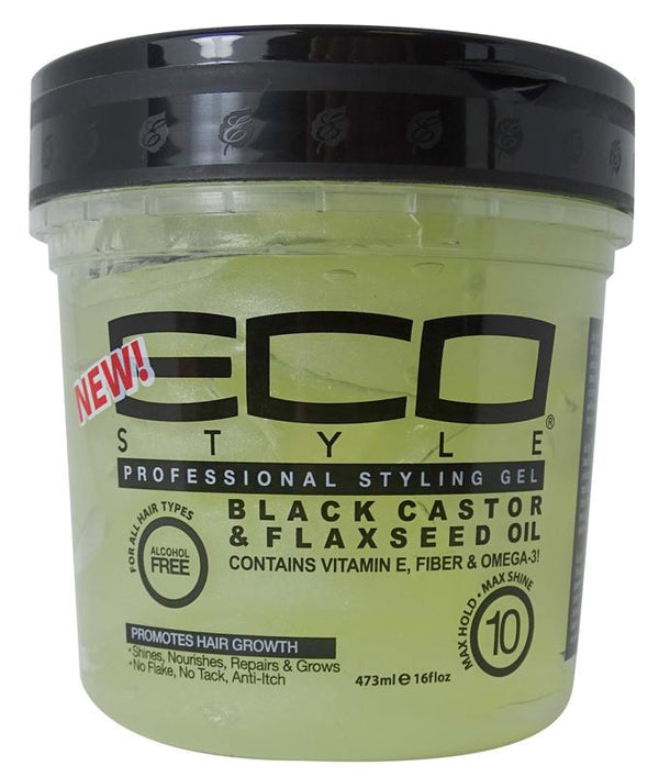 ECO Style Gel Black Castor & Flaxseed Oil