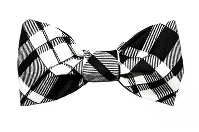 Bow Tie - Black/Creme Plaid