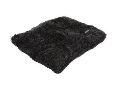 Black Shag Pillow Bed