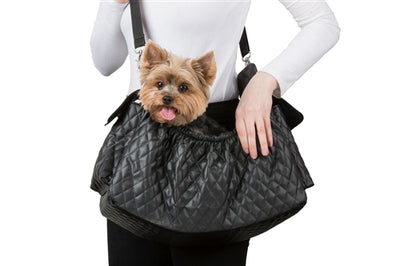 Gigi Sling - Black Quilted