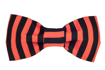 Bow Tie - Orange/Black Stripe