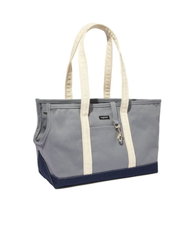 Tri-Color Boat Canvas Carrier - Gray/Navy/White