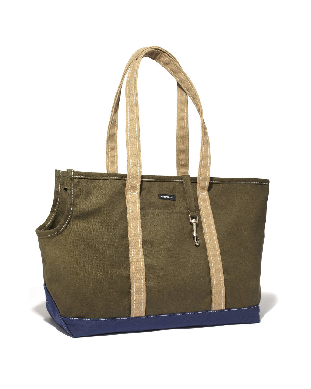Tri-Color Boat Canvas Carrier - Olive/Navy/Tan