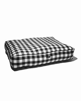 Gingham Check Bed - Black