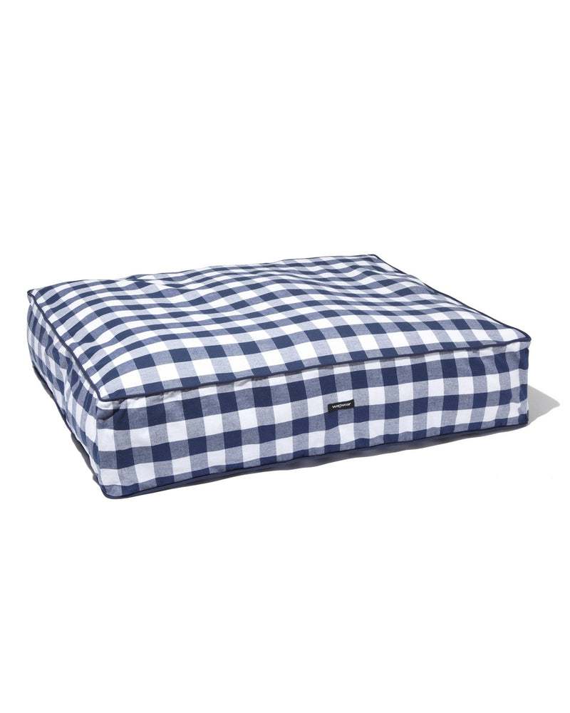 Gingham Check Bed - Blue